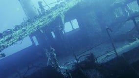 Relitto della nave su fondale marino video d archivio