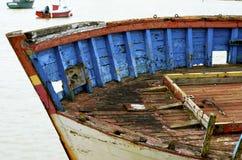 Relitto della piccola barca Fotografia Stock