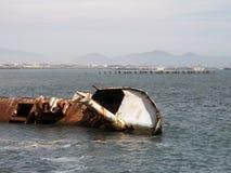 Relitto di una barca Fotografie Stock Libere da Diritti