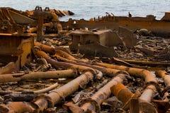Relitto e ruggine della barca immagini stock libere da diritti