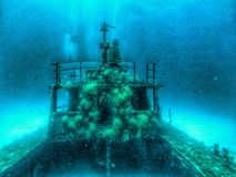 Relitto subacqueo a Malta Immagini Stock
