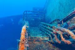 Relitto vicino a Pafo, Cipro della nave di Zenobia Fotografie Stock