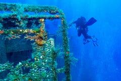 Relitto vicino a Pafo, Cipro della nave di Zenobia fotografia stock libera da diritti
