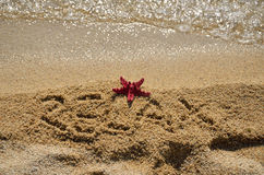 Relájese por el mar Imagen de archivo