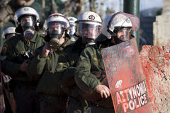 Rellen in Athene 18_12_08 stock foto's