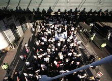 Rellen in Londen Stock Afbeeldingen