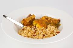 relleno тарелки chili близкое вверх Стоковое Изображение