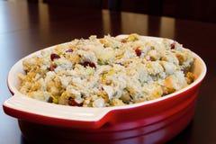 Relleno de la cena de Turquía del día de la acción de gracias Imagenes de archivo