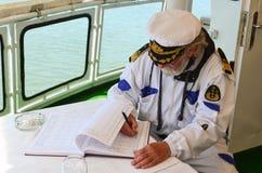 Relleno del diarios de operación de la nave Fotografía de archivo libre de regalías