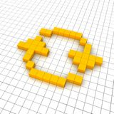 Reload 3d icon in grid. Rendered illustration Royalty Free Stock Image