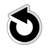 Reload arrow isolated icon Stock Photos
