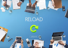 Reload Functionality Destruction Refresh Concept.  Stock Photography