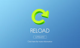 Reload Functionality Destruction Refresh Concept Stock Photography