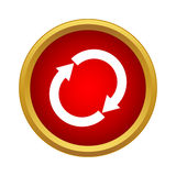 Reload icon, simple style Royalty Free Stock Images