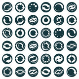 Reload icons isolated on white background vector set, loop arrow. S, refresh,  web theme simplistic symbols vector collections Stock Photo