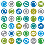 Reload icons vector set, loop arrows Royalty Free Stock Photos