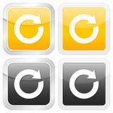 Reload quadrado do ícone ilustração stock