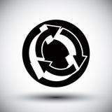 Reload refresh arrows loop vector simple single color icon. Stock Images