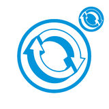 Reload refresh arrows loop vector simple single color icon isola Stock Photography