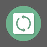 Reload, refresh flat icon. Round colorful button, circular vector sign with shadow effect. Royalty Free Stock Image