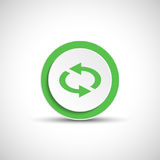 Reload sign. Color arrow icon. Abstract vector arrow royalty free illustration