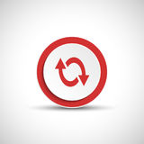 Reload sign. Color arrow icon. Royalty Free Stock Image