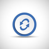Reload sign. Color arrow icon. Abstract vector arrow stock illustration