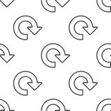 Reload, vector seamless pattern Royalty Free Stock Image