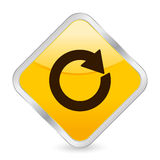 Reload yellow square icon Stock Photo