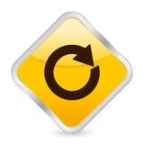 Reload yellow square icon Stock Photo