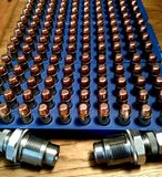 Reloading 45 auto ammunition Stock Photography