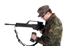 Reloading a gun Royalty Free Stock Image