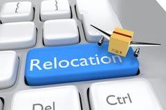 Relocalización y concepto del envío Imágenes de archivo libres de regalías