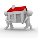 Relocate para casa Fotografia de Stock Royalty Free