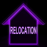 Relocation Home Means New Residency Or Address. Relocation Home Meaning New Residency Or Address Royalty Free Stock Image