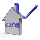 Relocation House Means Shifting And Change Of Residency. Relocation House Meaning Shifting And Change Of Residency Stock Images