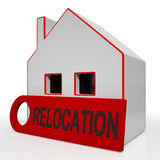 Relocation House Shows Move And Live Elsewhere Royalty Free Stock Images