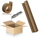 Relocation Packing Supplies Stock Photo