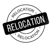 Relocation rubber stamp Royalty Free Stock Photo
