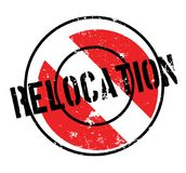 Relocation rubber stamp Stock Photos