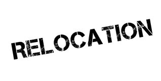 Relocation rubber stamp Stock Photo