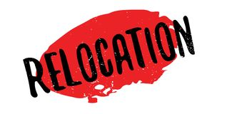 Relocation rubber stamp Stock Images