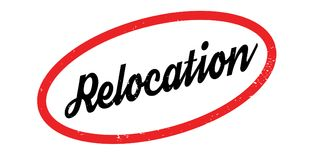 Relocation rubber stamp Stock Photography