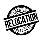 Relocation rubber stamp Stock Image