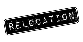 Relocation rubber stamp Royalty Free Stock Image