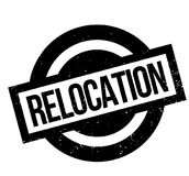 Relocation rubber stamp Royalty Free Stock Images