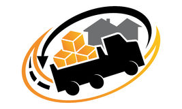 Relocation Service Logo. Logo vector illustration, can be used for any purpose Royalty Free Stock Photo