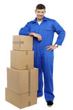 Relocation staff member resting Royalty Free Stock Photos