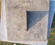 Relogio делает Sol или дозор или солнечные часы Солнца стоковое фото