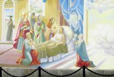 Relogious绘画,基督徒象在东正教里 库存照片